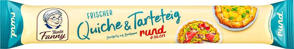 Abbildung des Sortimentsartikels Tante Fanny Frischer Quiche- & Tarteteig rund 300g