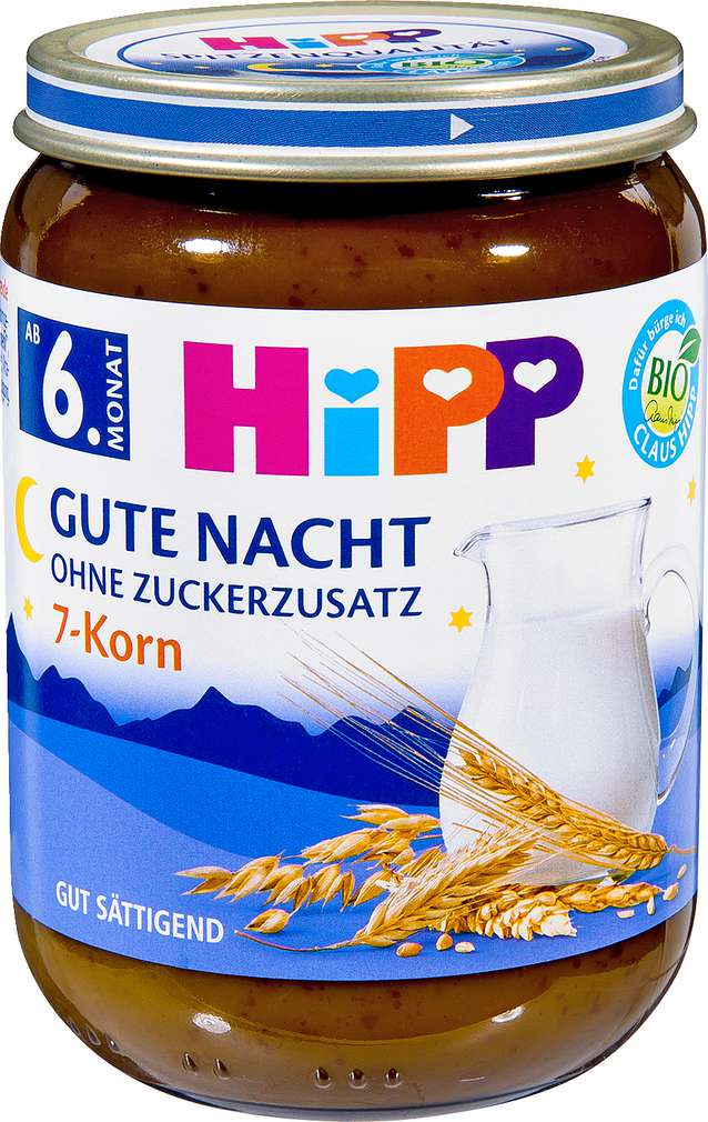 Abbildung des Sortimentsartikels Hipp Gute Nacht 7-Korn 190g