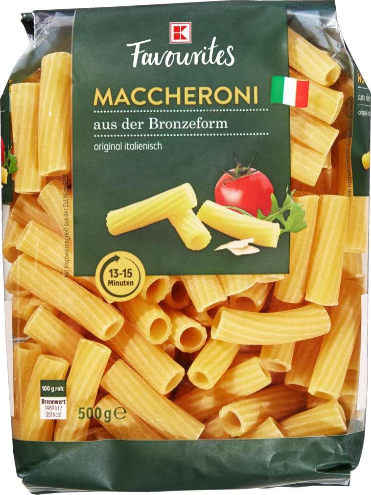 Abbildung des Sortimentsartikels K-Favourites Maccheroni 500g
