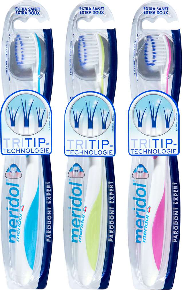 Abbildung des Sortimentsartikels Meridol Zahnbürste Parodont Expert extra sanft