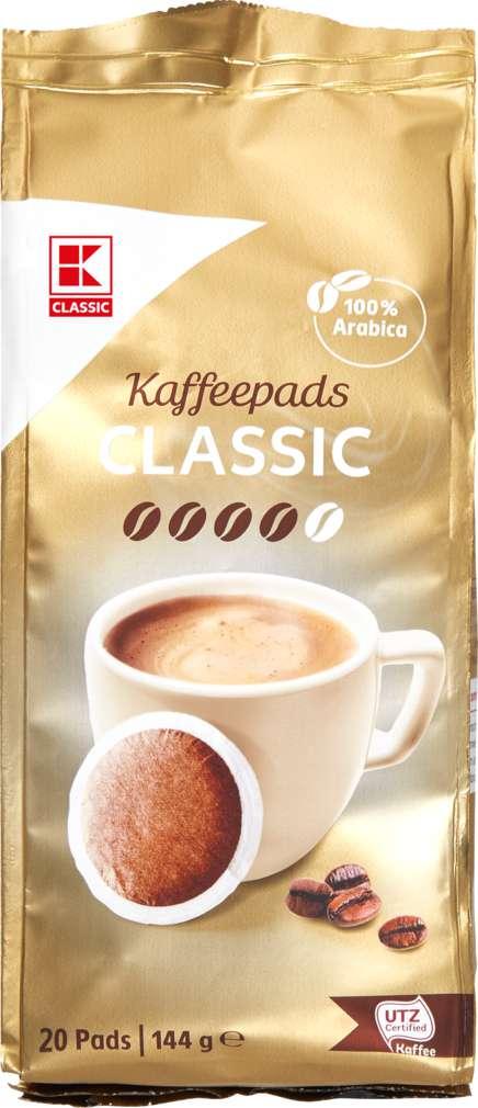 Abbildung des Sortimentsartikels K-Classic Café Allegro Pads classic 144g, 20 Stück