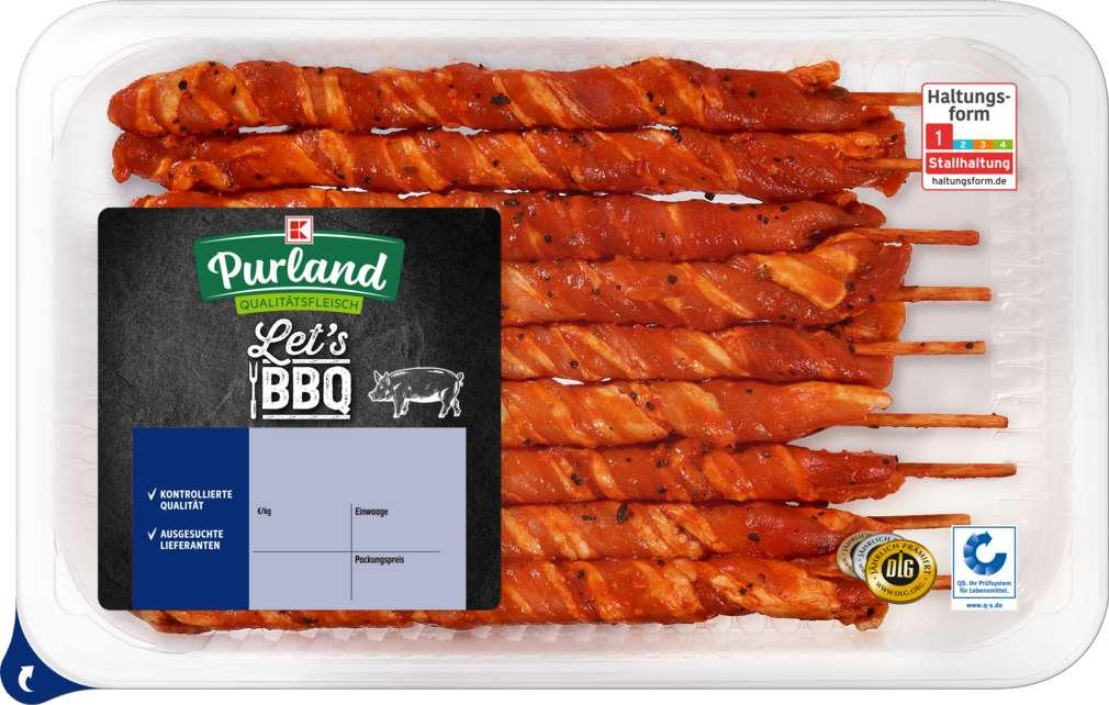 Abbildung des Sortimentsartikels K-Purland Let´s BBQ Grillfackeln Schweinebauch gewickelt, 400g