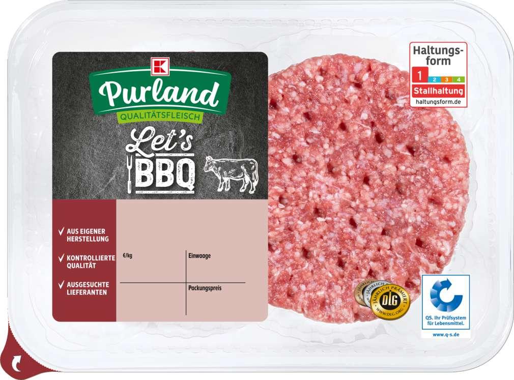 Abbildung des Sortimentsartikels K-Purland Rinderhamburger 200g