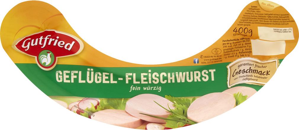 Abbildung des Sortimentsartikels Gutfried Geflügel-Fleischwurst 400g