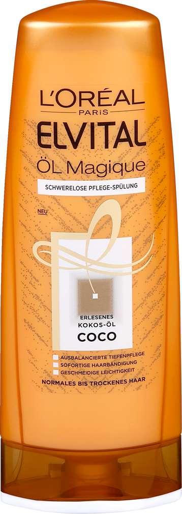 Abbildung des Sortimentsartikels L´Oréal Paris Elvital Öl Magique Schwerelose Pflege-Spülung Coco 250ml