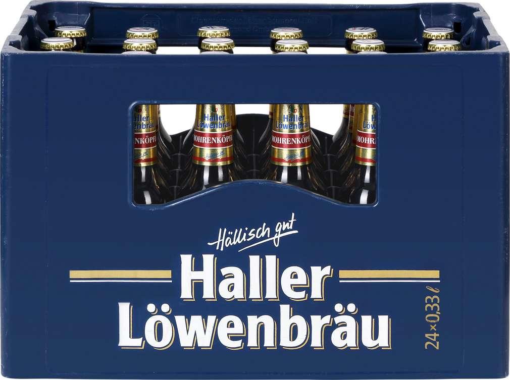 Abbildung des Sortimentsartikels Haller Löwenbräu Mohrenköpfle 24/0,33l
