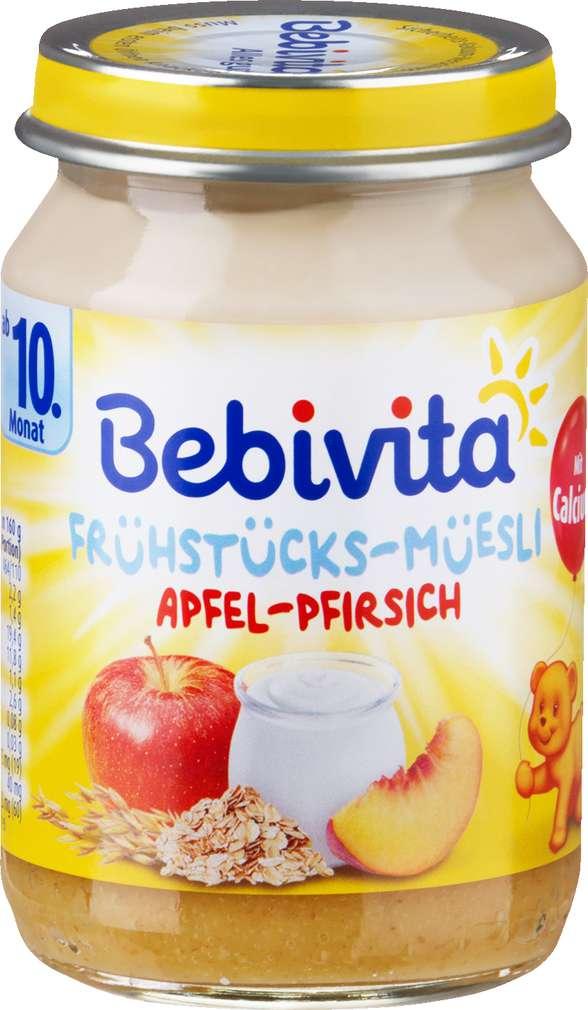 Abbildung des Sortimentsartikels Bebivita Frühstücks-Müesli Apfel-Pfirsich 160g