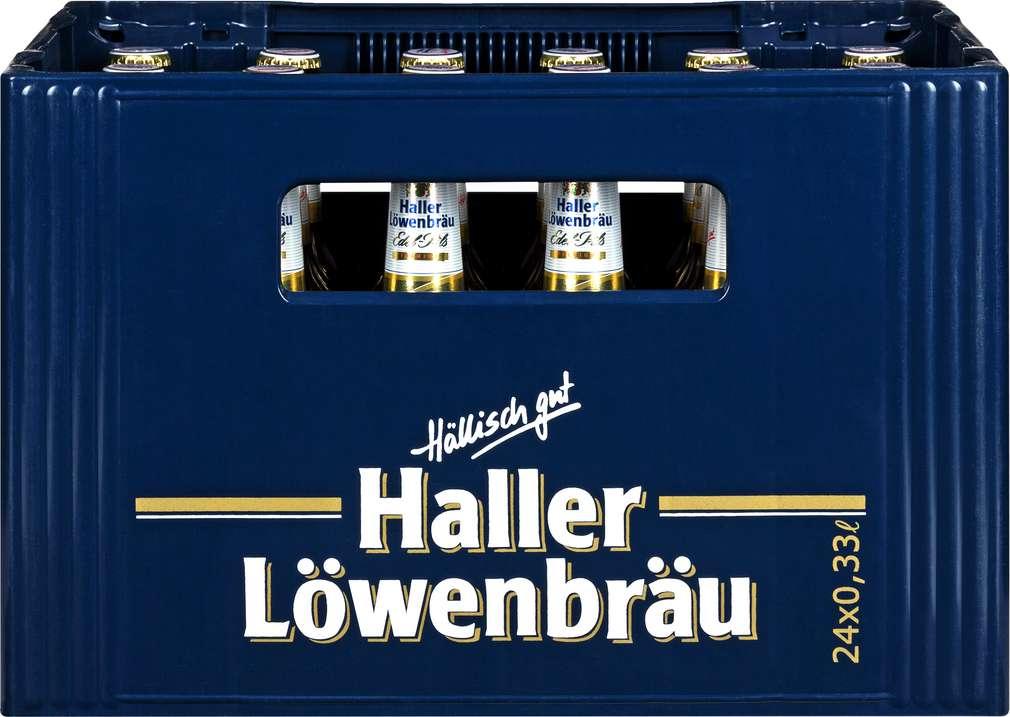 Abbildung des Sortimentsartikels Haller Löwenbräu Edel-Pils 24x0,33l
