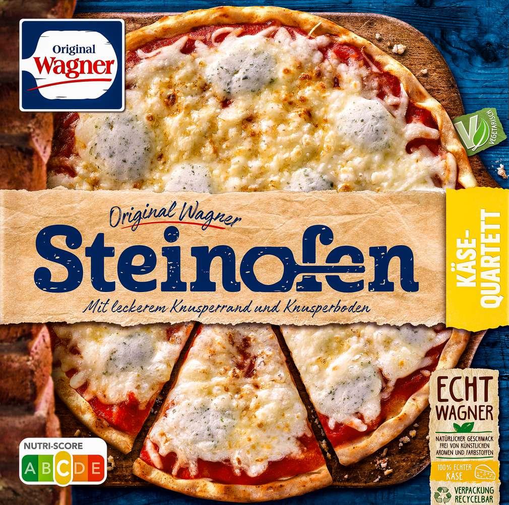 Abbildung des Sortimentsartikels Original Wagner Steinofen Pizza Käse-Quartett 350g