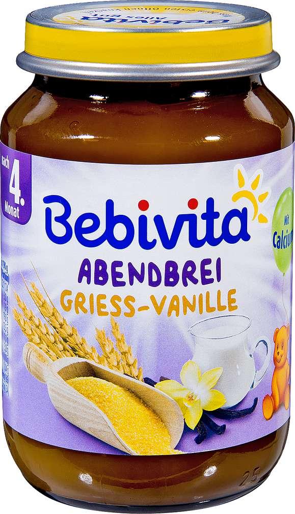 Abbildung des Sortimentsartikels Bebivita Abendbrei Grieß-Vanille 190g