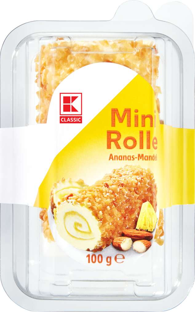 Abbildung des Sortimentsartikels K-Classic Mini Rolle Ananas-Mandel 100g