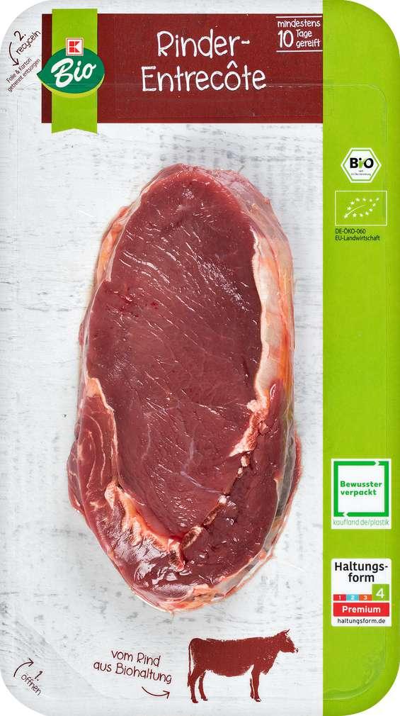 Abbildung des Sortimentsartikels K-Bio Bio Rinder Entrecote