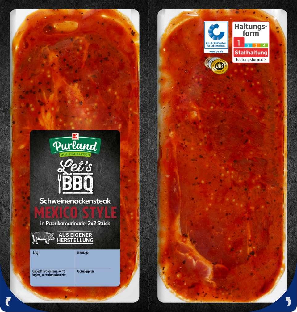 Abbildung des Sortimentsartikels K-Purland Steak Mexico 2x2 Stück