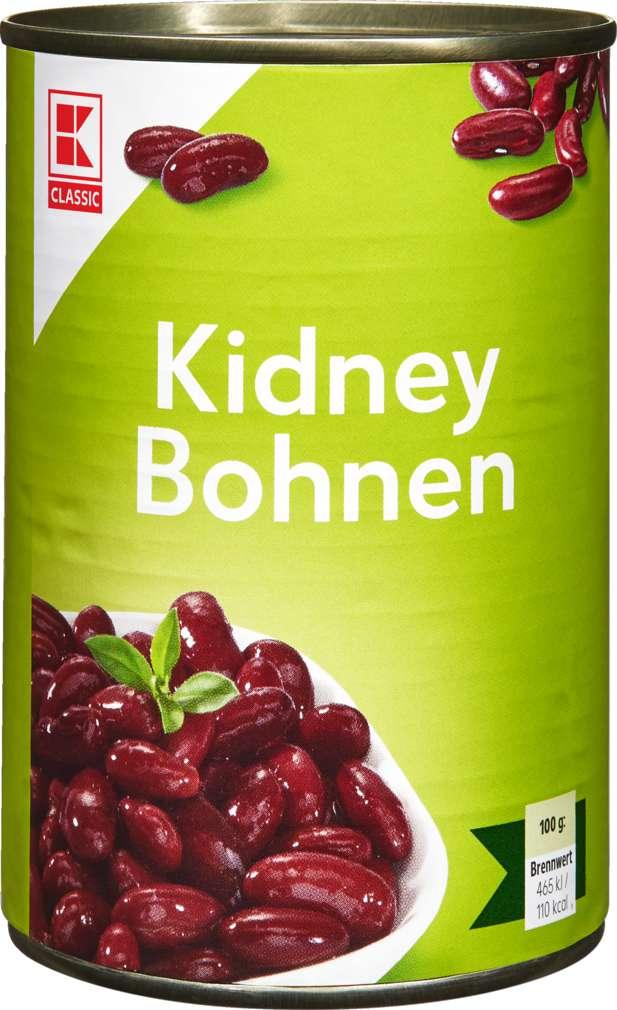 Abbildung des Sortimentsartikels K-Classic Kidney-Bohnen dunkelrot 400g