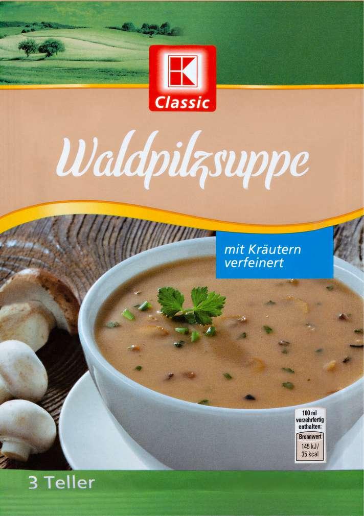 Abbildung des Sortimentsartikels K-Classic Suppe Waldpilz 70g