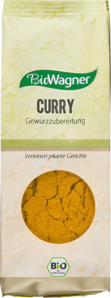 Abbildung des Sortimentsartikels BioWagner Bio-Curry Gewürzzubereitung 80g