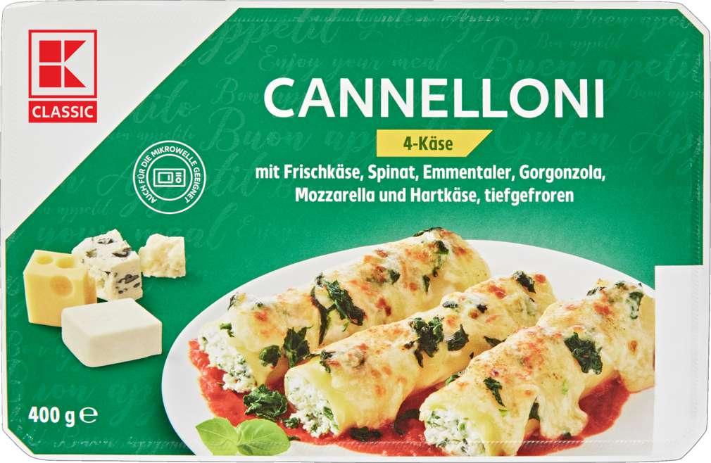 Abbildung des Sortimentsartikels K-Classic Cannelloni 4-Käse tiefgefroren 400g