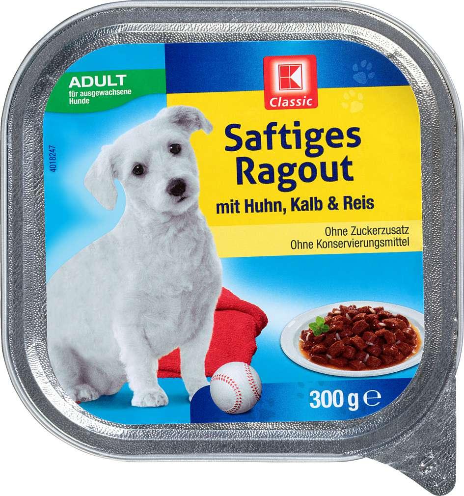 Abbildung des Sortimentsartikels K-Classic Saftiges Ragout mit Huhn, Kalb & Reis 300g