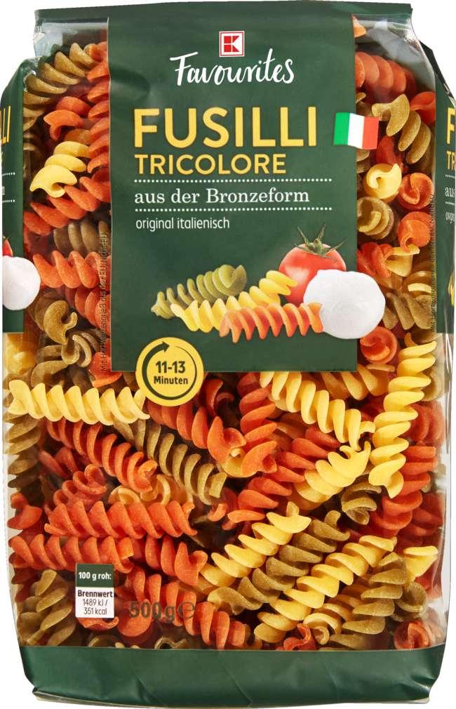 Abbildung des Sortimentsartikels K-Favourites Fusilli Tricolore 500g