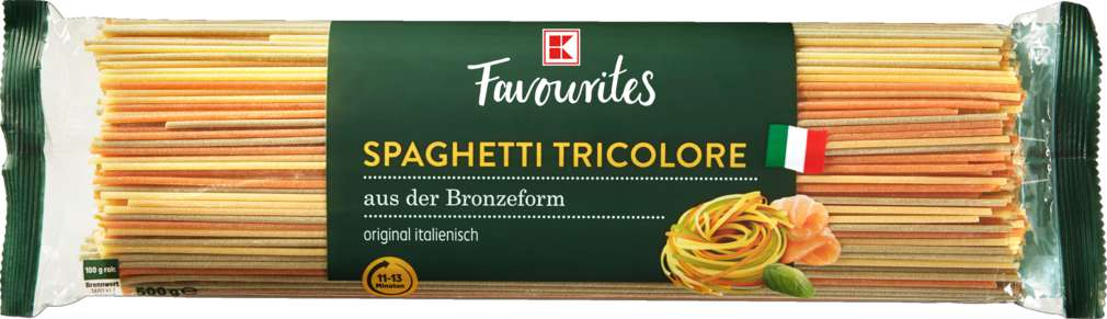 Abbildung des Sortimentsartikels K-Favourites Spaghetti Tricolore ohne Ei 500g