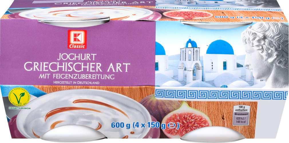 Abbildung des Sortimentsartikels K-Classic Joghurt griechischer Art mit Feigenzubereitung 4x150g