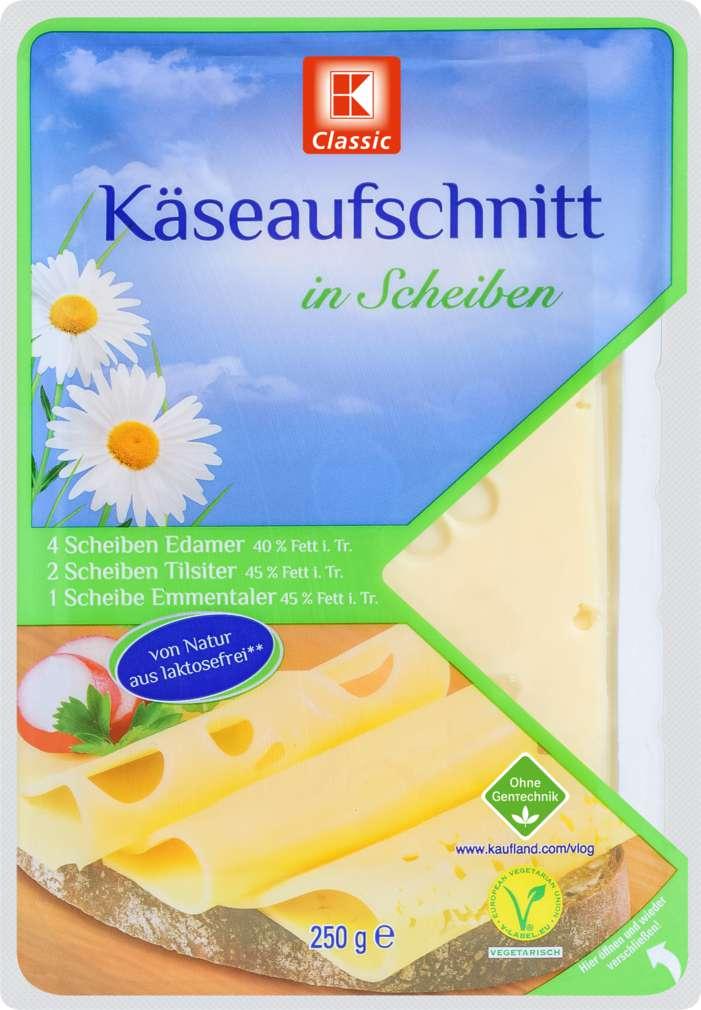 Abbildung des Sortimentsartikels K-Classic Käseaufschnitt in Scheiben 250g