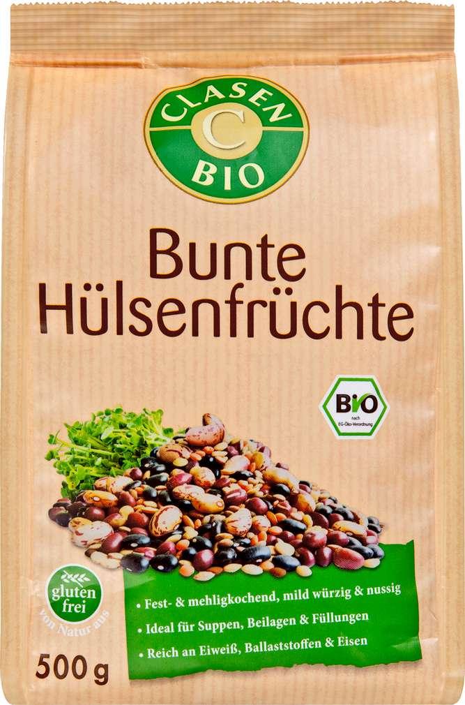 Abbildung des Sortimentsartikels Clasen Bio Bunte Hülsenfrüchte glutenfrei 500g