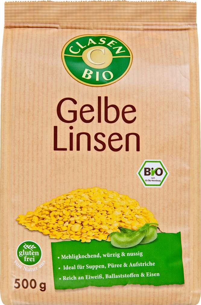 Abbildung des Sortimentsartikels Clasen Bio Gelbe Linsen glutenfrei 500g