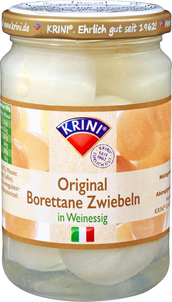 Abbildung des Sortimentsartikels Krini Borettane Zwiebeln in Weinessig 285g