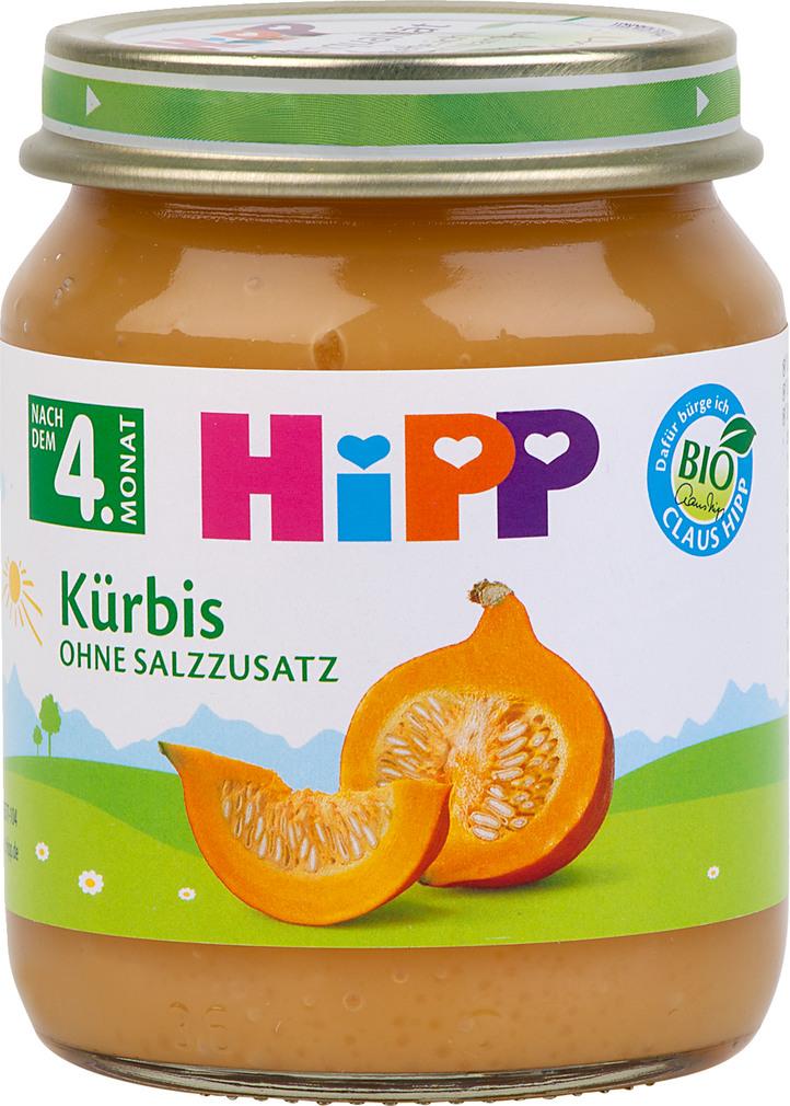 Abbildung des Sortimentsartikels Hipp Kürbis 125g