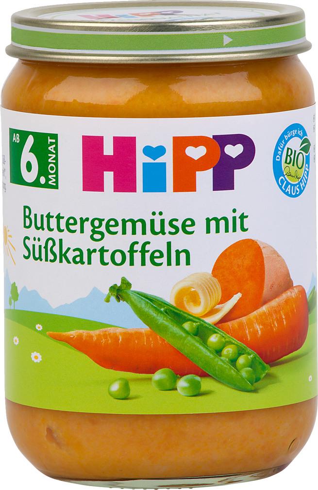 Abbildung des Sortimentsartikels Hipp Bio-Buttergemüse mit Süßkartoffeln 190g