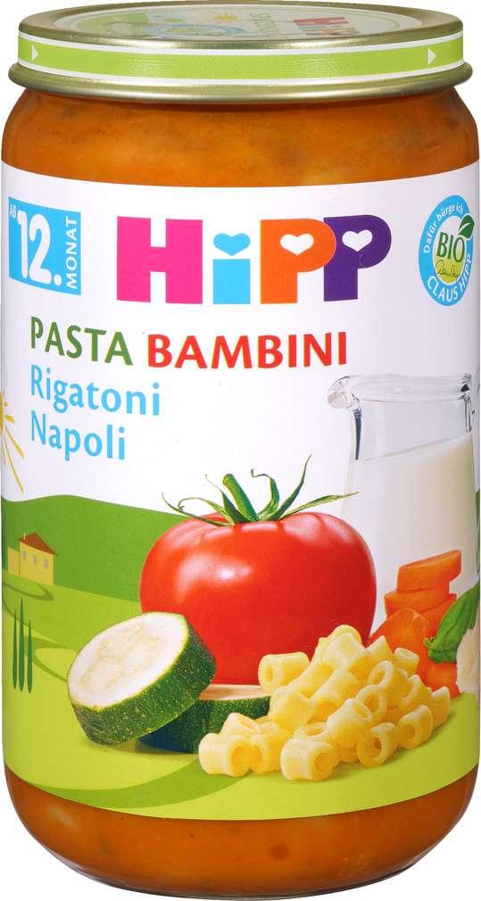 Abbildung des Sortimentsartikels Hipp Rigatoni Napoli 250g