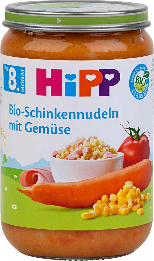 Abbildung des Sortimentsartikels Hipp Bio-Schinkennudeln mit Gemüse 220g