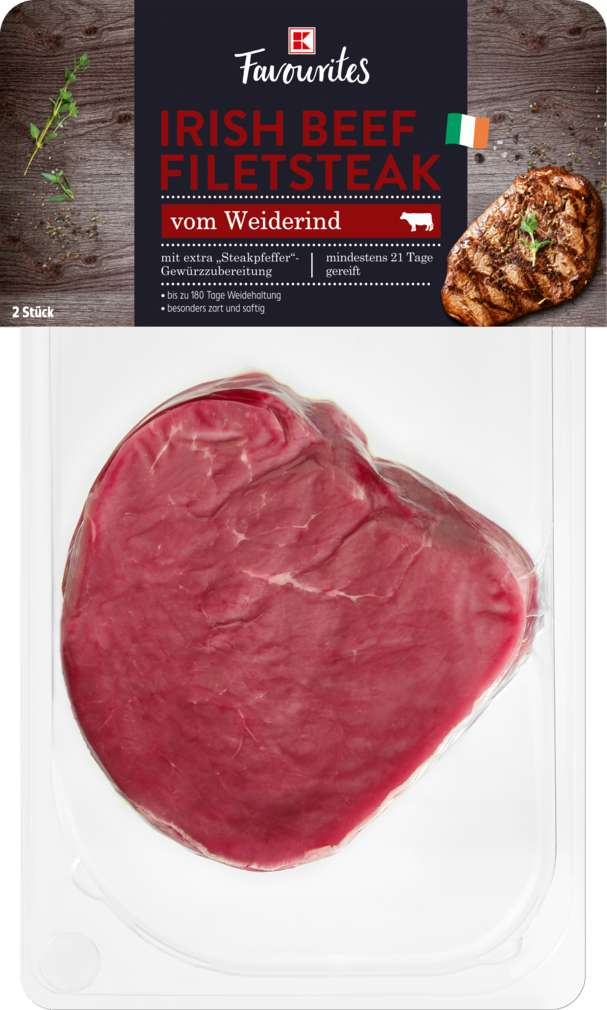 Abbildung des Sortimentsartikels K-Favourites Irish Beef Filetsteak gereift