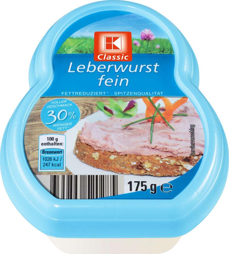 Abbildung des Sortimentsartikels K-Classic Leberwurst fein fettreduziert 175g