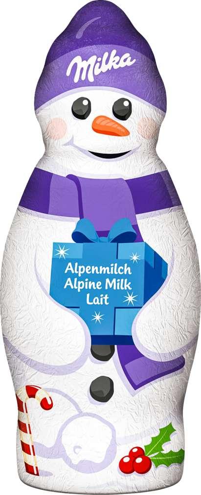Abbildung des Sortimentsartikels Milka Schneemann Alpenmilch 50g