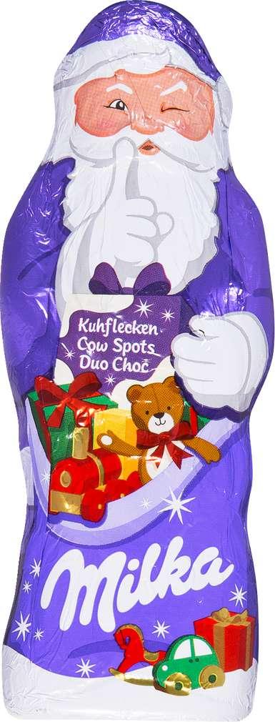 Abbildung des Sortimentsartikels Milka Kuhflecken Weihnachtsmann 100g