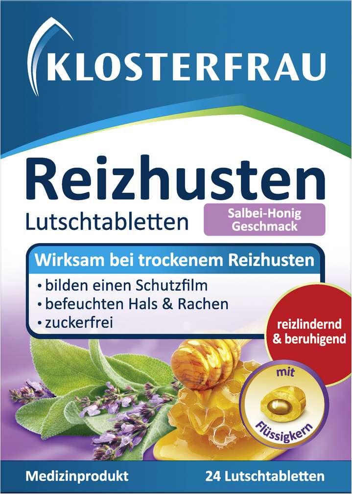 Abbildung des Sortimentsartikels Klosterfrau Reizhusten Salbei-Honig zuckerfrei 24 Stück