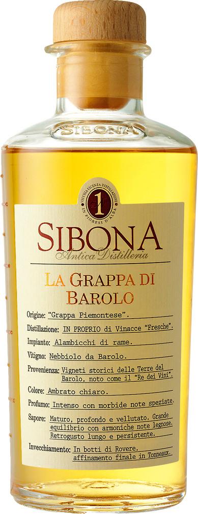 Abbildung des Sortimentsartikels Sibona La Grappa Di Barolo 0,5l