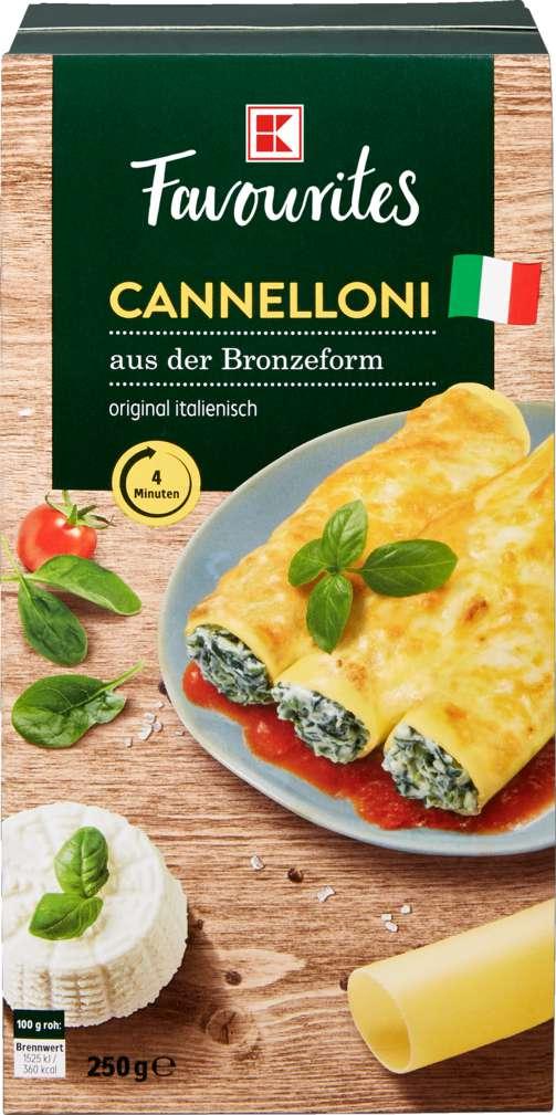 Abbildung des Sortimentsartikels K-Favourites Cannelloni ohne Ei 250 g