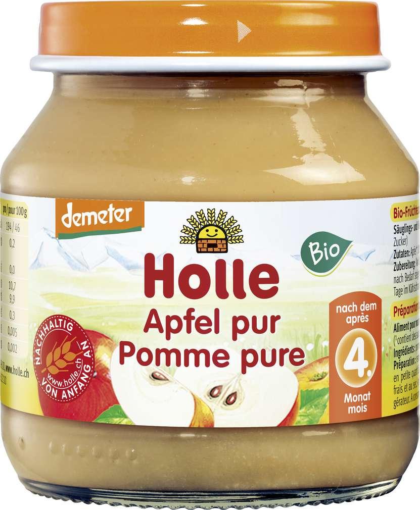 Abbildung des Sortimentsartikels Holle Demeter Apfel Pur nach dem 4. Monat 125g