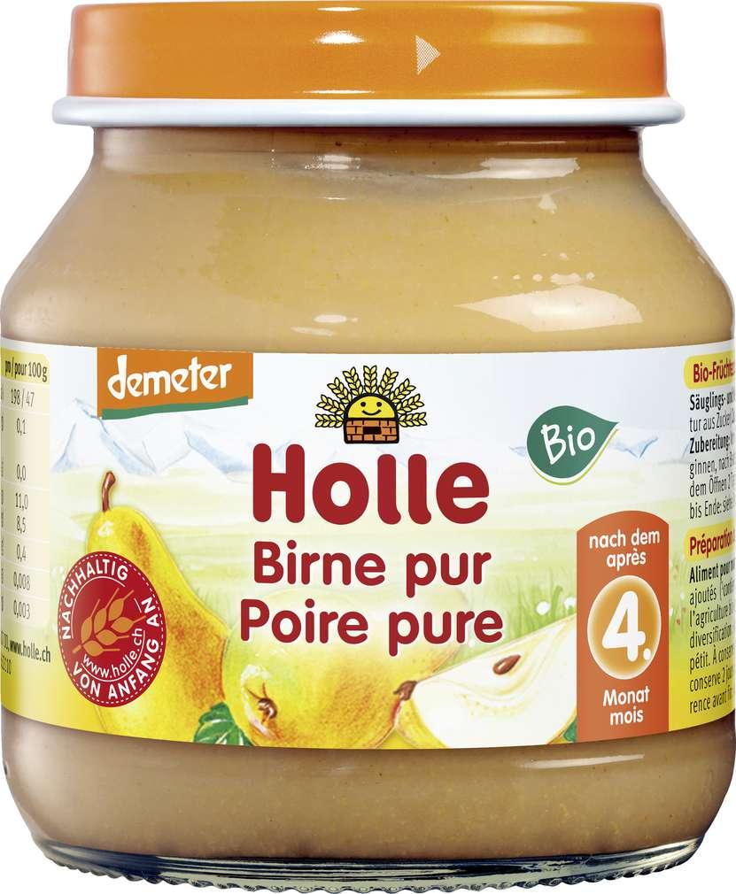 Abbildung des Sortimentsartikels Holle Demeter Birne Pur nach dem 4. Monat 125g