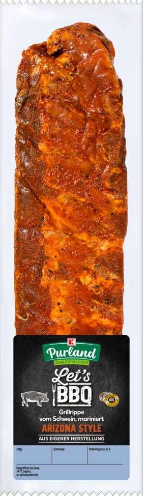 Abbildung des Sortimentsartikels K-Purland Let´s BBQ Grillrippe Arizona Style vom Schwein