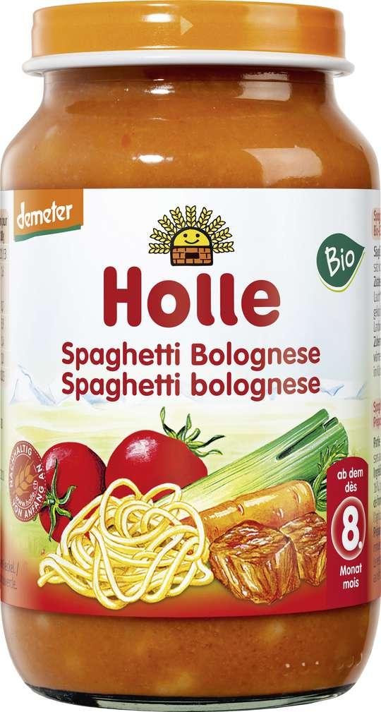 Abbildung des Sortimentsartikels Holle Demeter Spaghetti Bolognese ab dem 8. Monat 220g