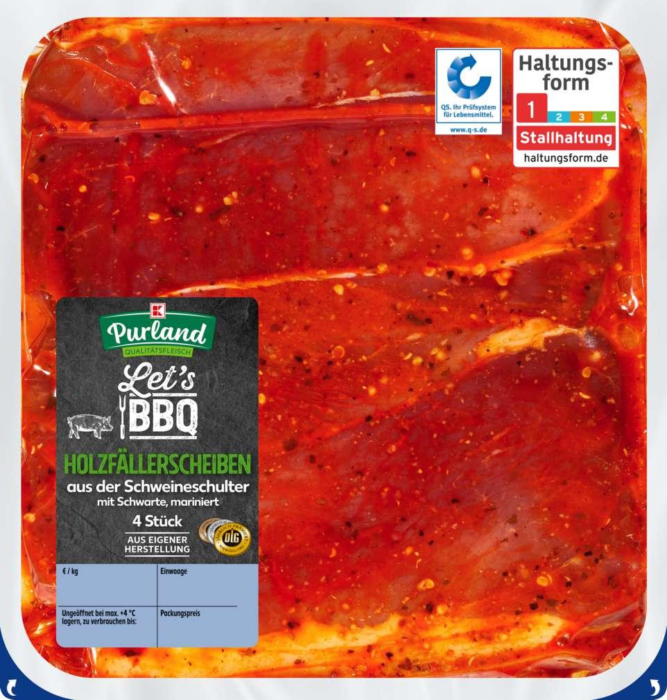 Abbildung des Sortimentsartikels K-Purland Let´s BBQ Holzfällerscheiben vom Schwein mariniert