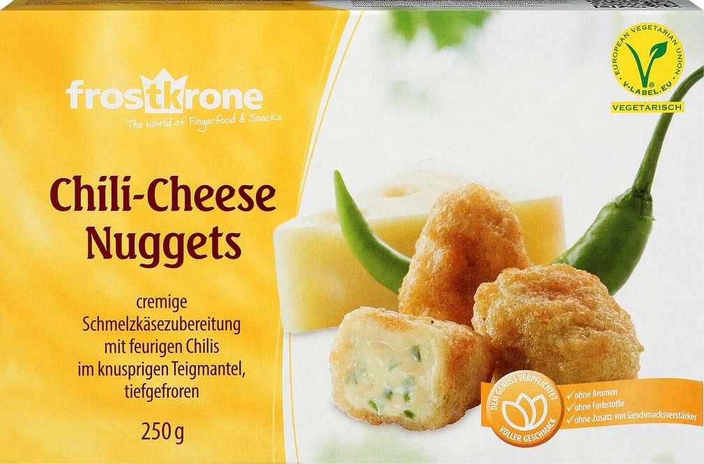 Abbildung des Sortimentsartikels Frostkrone Chili-Cheese Nuggets 250g