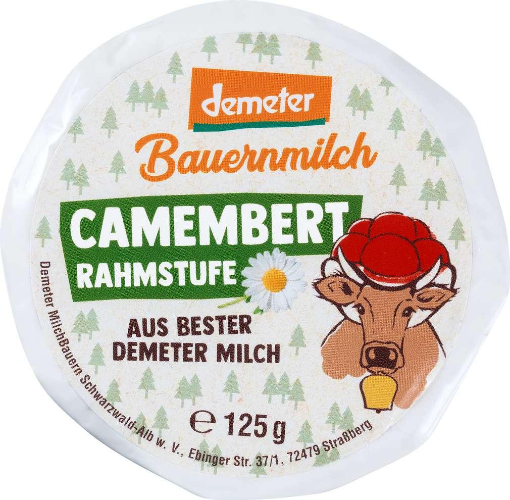 Abbildung des Sortimentsartikels MilchBauern Demeter Camembert Rahmstufe 125g