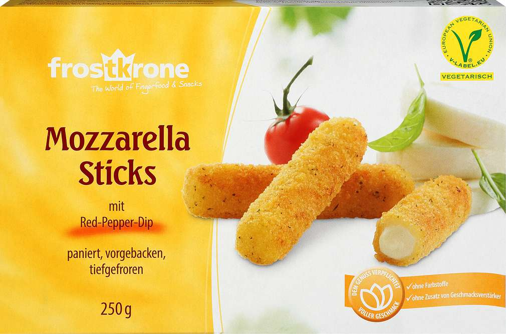 Abbildung des Sortimentsartikels Frostkrone Mozzarella Sticks 250g