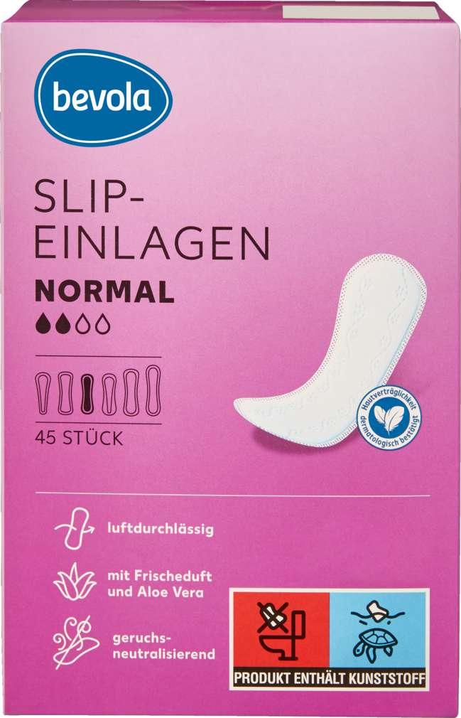 Abbildung des Sortimentsartikels Bevola Slipeinlagen Normal Frischeduft Aloe Vera 45 Stück