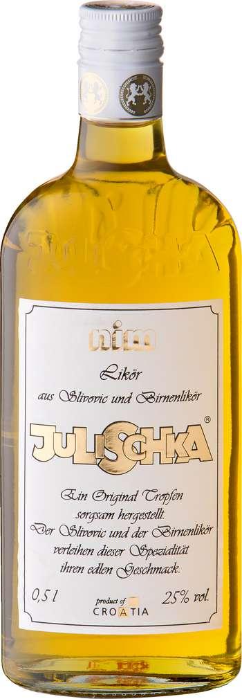 Abbildung des Sortimentsartikels Julischka Likör aus Slivovic und Birnen 0,5l